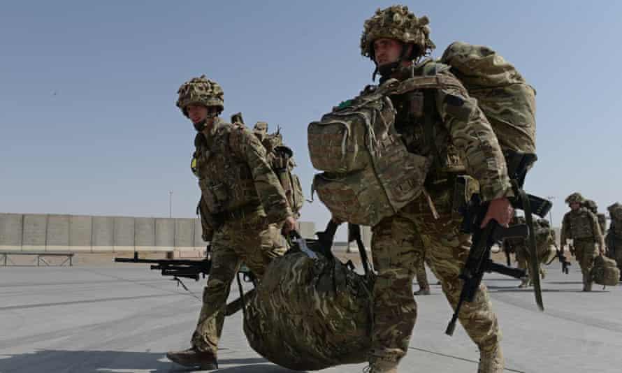 British soldiers in Kandahar, October 2014.