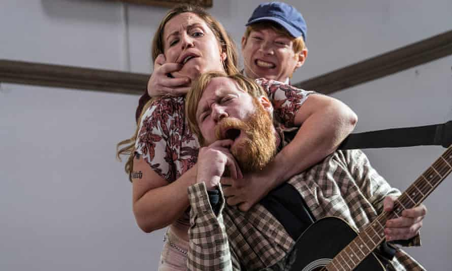Pop hooks ... Liz Fitzgibbon with Brian and Domhnall Gleeson on Frank of Ireland.