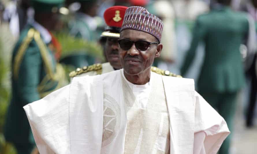 Muhammadu Buhari arrives for his inauguration n Abuja in May 2015.