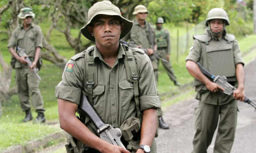 Fijian Soldiers in Suva. Russia has sent a secretive shipment of weapons to Fiji in what some say is a move to gain influence in the region.