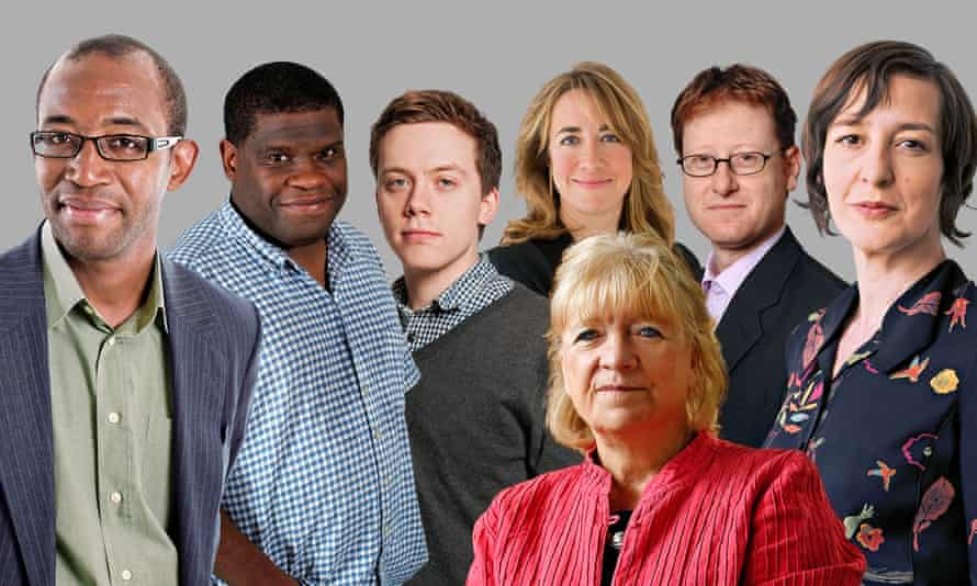 The Guardian telethon journalists.