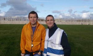 Andrew Graham, from parkrun north-west (l), with Shane Spencer, a PE supervisor at HMP Haverigg.