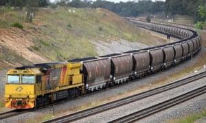 An Aurizon coal train