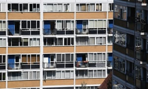 Flats on the Churchill Gardens estate in Westminster: new social rented homes built last year hit the lowest level since records began.