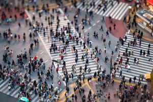 """Tokyo, Japan. Longitude: 139¡ 70' 04.95"""" Shibuya junction has the busiest pedestrian scramble in the world, allowing hundreds of people to cross every few minutes. 37 million people live in Greater Tokyo"""