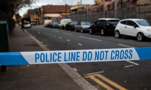 'Police line do not cross' tape at Waltham Forest scene
