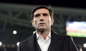 Marcelino has criticised the lack of VAR after Marouane Fellaini's controversial late winner ended Valencia's Champions League hopes.