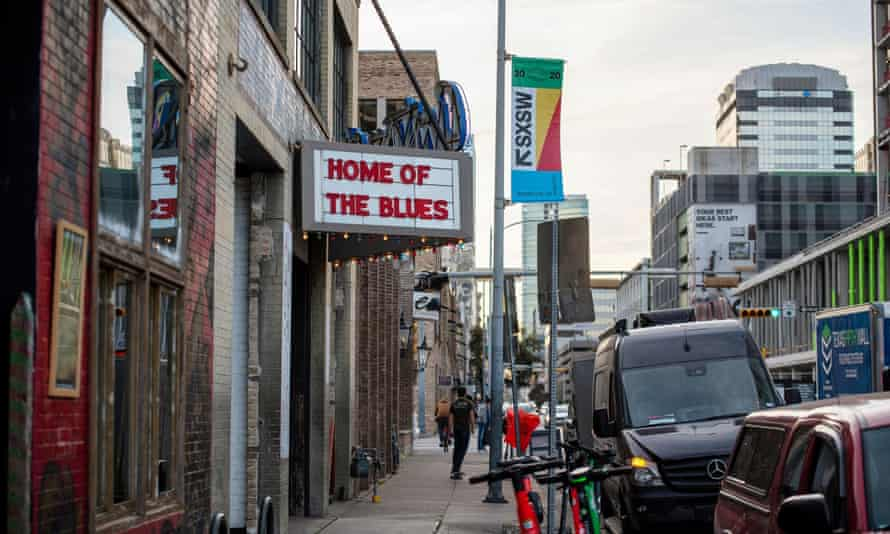 A music venue in Austin, Texas, where the SXSW festival has been cancelled.