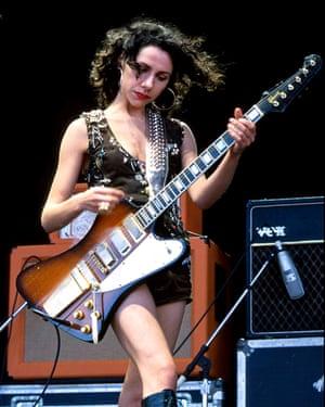 PJ Harvey on stage