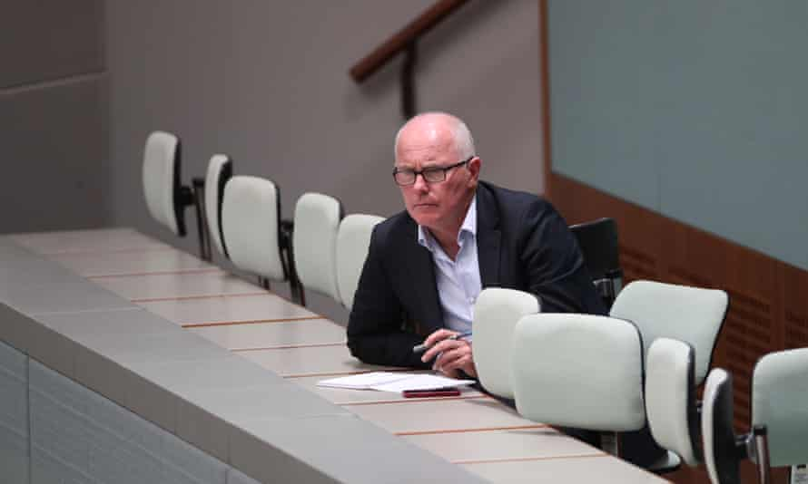Gordon at work in Parliament House, June 2017.