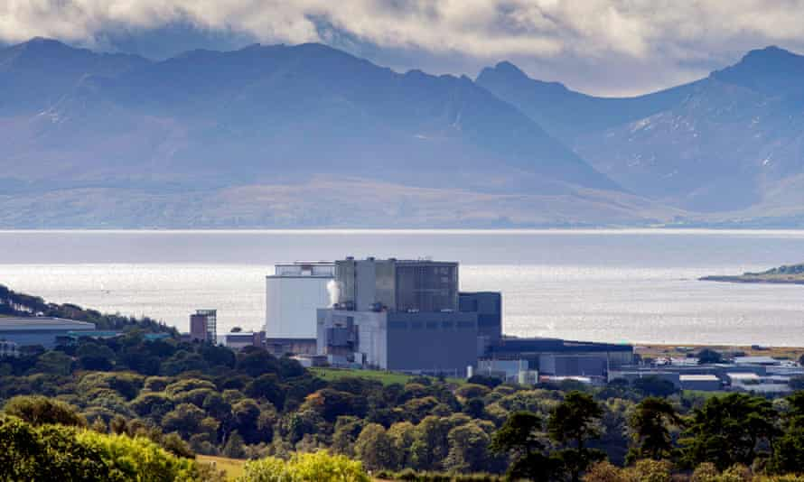 Hunterston power station near Largs is one of the UK's oldest remaining nuclear plants.