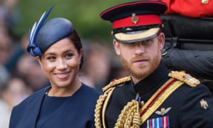Prince Harry and Meghan during Trooping the Colour
