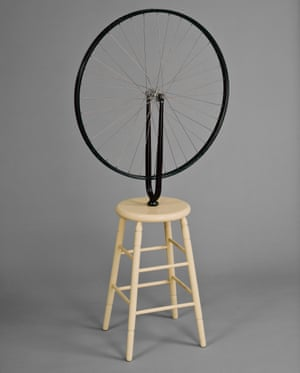 Bicycle Wheel, 1913, by Duchamp.