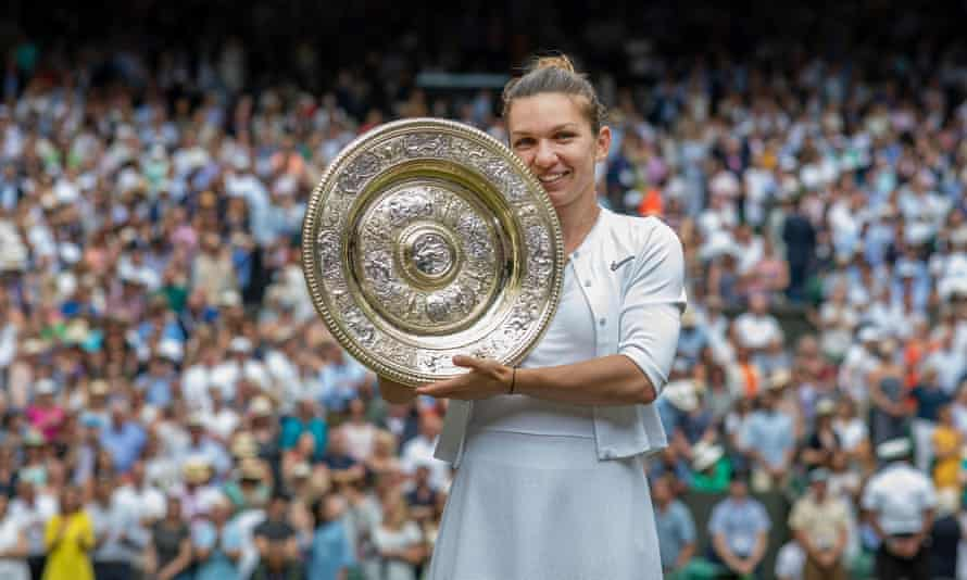 Simona Halep after winning the 2019 women's singles