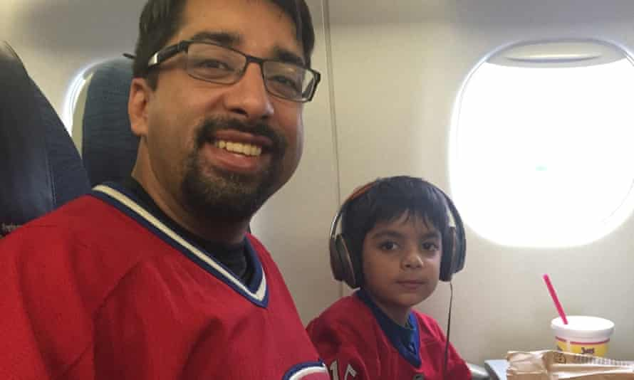 Syed Adam Ahmed and his father Sulemaan Ahmed