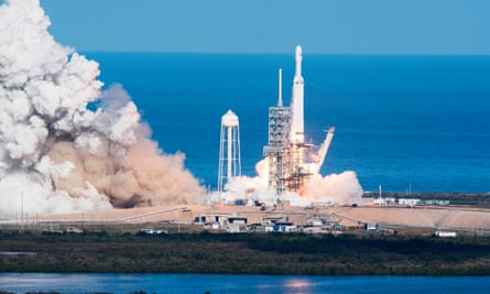 Final frontier … entrepreneur Elon Musk's Mars mission launches from Kennedy Space Center, Florida, earlier this year.