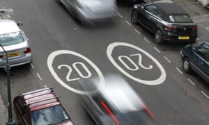 Cars in a 20mph zone in Hove, East Sussex