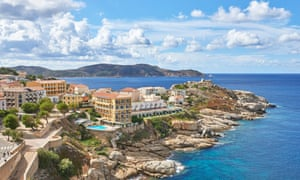 Corsica … home to the UK package holiday: Horizon Holidays took 11 Brits on an all-inclusive trip here in 1950.