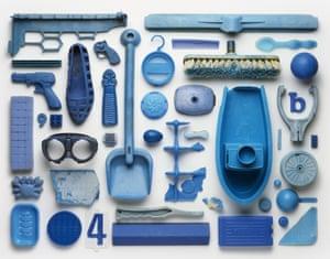 Collection (blue) Stuart Haygarth photo arrangement