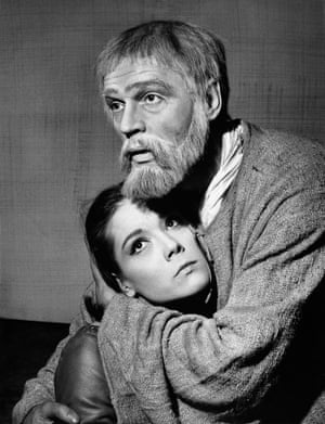as Cordelia with Paul Scofield as King Lear.