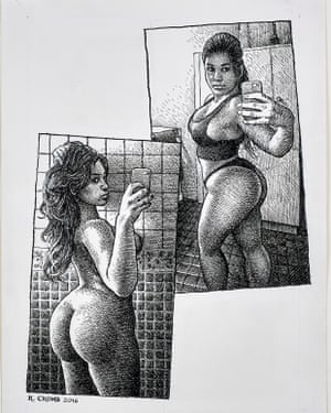 Another illustration by Crumb from Art & Beauty magazine.