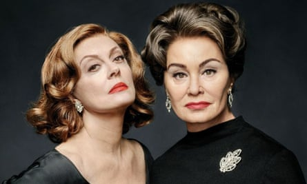 Susan Sarandon as Bette Davis and Jessica Lange as Joan Crawford in Feud: Bette and Joan.