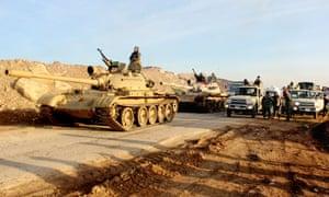 Kurdish peshmerga forces prepare for battle against the Isis.