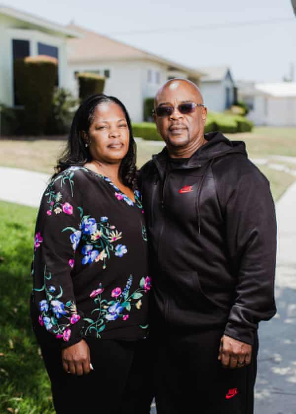Ryan Twyman's family in south Los Angeles, California.