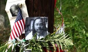 A memorial for Samuel DuBose in Cincinnati, Ohio.