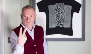 'My entry level into Romanticism was Peter Saville' … George Shaw with his old Joy Division T-shirt.