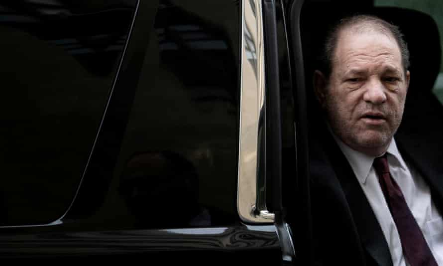 Harvey Weinstein arrives for his sexual assault trial in Manhattan in February.