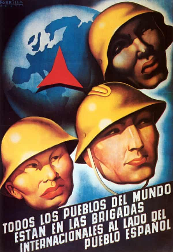 A 1937 poster declaring 'All The People Of The World Are United With Spain'.
