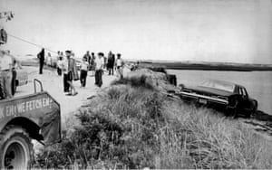 Ted Kennedy's car is pulled from the water in 1969 after the Chappaquiddick crash,