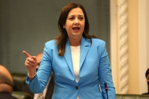 Queensland premier Annastacia Palaszczuk speaks during question time on Thursday.