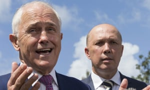 Malcolm Turnbull and Peter Dutton. Conservatives within the Coalition have now pinned their hopes on a challenge by Dutton.