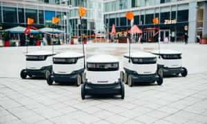 A fleet of Starship robots in Milton Keynes