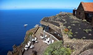 The Pozo de la Salud hotel cliffs and sea