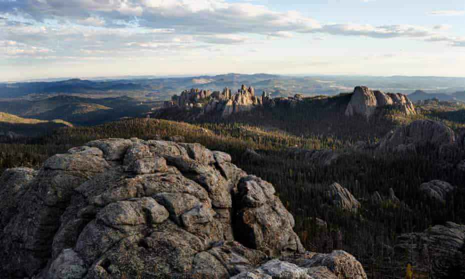 View out to Cathedral Spires from Harney Peak in Custer State Park