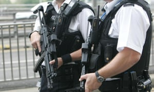 Armed police.