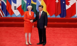 Theresa May and Xi Jinping at the G20 summit. Her decision on Hinkley Point saved relations with China being 'tossed into uncertainty'.