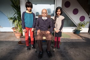 Moyna Miah and grandchildren from the series Lived Brutalism: photographs of residents of the Robin Hood Gardens housing estate by photographer Kois Miah