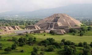 What lies beneath … the Pyramid of the Moon at Teotihuacan.