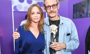 Richardson with the fashion designer Stella McCartney in New York in June 2017.