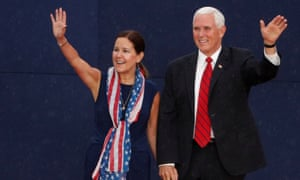 Mike and Karen Pence on 4 July