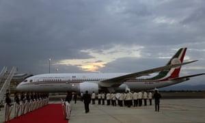 Mexico's presidential plane on the tarmac