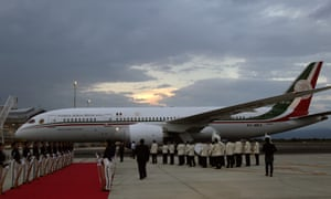 The presidential plane, pictured in Colombia in June 2017.