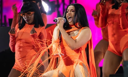 Cardi B performing at Wireless festival in London.