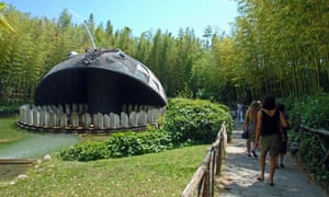Visitors at Pinocchio Park in Collodi, Tuscany, Italy