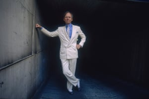 Tom Wolfe, pictured here in 1988, is best known for his novel Bonfire of the Vanities and his journalistic work The Electric Kool-Aid Acid Test