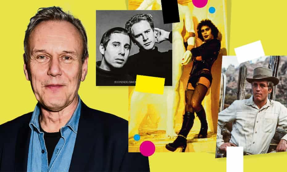 (From left) Anthony Head, Simon and Garfunkel, Tim Curry in The Rocky Horror Show and Paul Newman in Butch Cassidy and the Sundance Kid